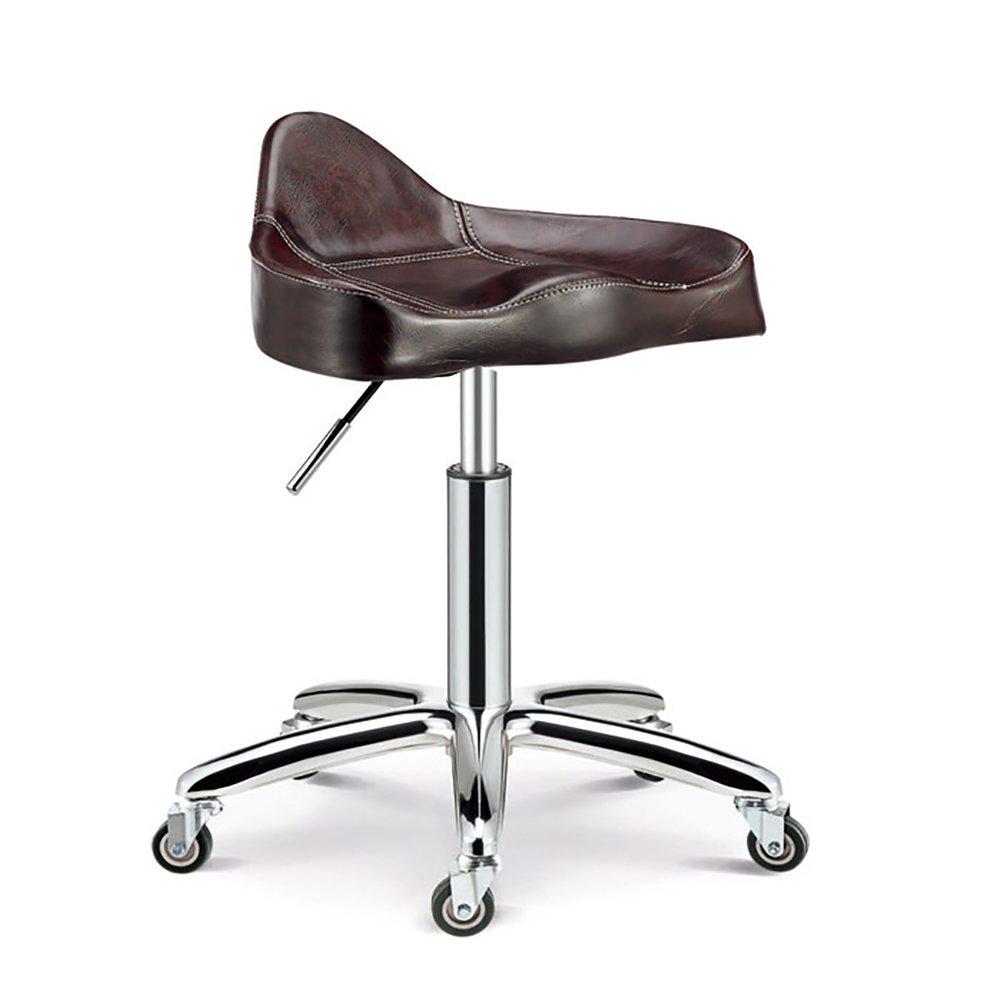 Rotazione di 360 Gradi Cuscino da 10 cm con Ruote Altezza Regolabile Colore : Maroon, Dimensioni : 44-56cm Mena Swivel Chair Sgabello Girevole di Bellezza con Sedia Girevole 4 Colori