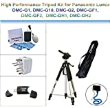 High Performance Tripod Kit for Panasonic Lumix DMC-G1, DMC-G10, DMC-G2, DMC-GF1, DMC-GF2, DMC-GH1, DMC-GH2; includes a Flexible Monopod, Universal Adapter, USB 2.0, and 5PC Lens Cleaning Kit