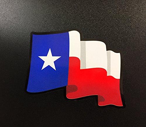 Texas Flag Wavy - Sticker - Waco Stores Texas