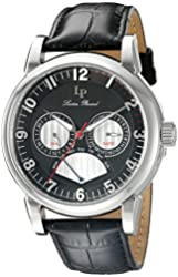 Lucien Piccard Watches Montana Multi-Function Leather Band Watch