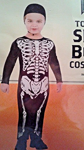 Toddler Skele-Bone 2T-3T Halloween Costume Jumper w Cap Skeleton Zombie Mini White Walker