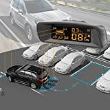 auto reverse parking assistant front and rear distance lcd display car reversing radar system with sensors smart tech detector cam sensor full digital kit a10