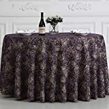 BOSSLV Kitchen Dinning Tabletop Tablecloth Table Cover Country Style Hotel Banquet Clubhouse Coffee Tablecloth Chemical Fiber Multi-Purpose Indoor and Outdoor, Round-300cm