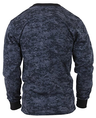 Polyester Digital Camo (Rothco Long Sleeve Digital T-Shirts, Midnight Digital Camo, Large)