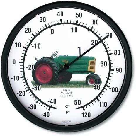 "New OLIVER Model 88 Tractor Wall Clock 14/"" Round Restored Vintage Farmer Tractor"