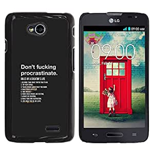 iKiki Tech / Estuche rígido - Non procrastinare - LG Optimus L70