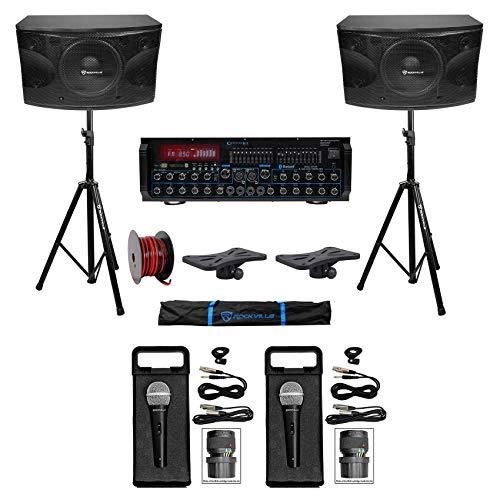Rockville Karaoke Machine System w/Pair 12