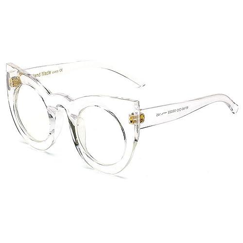 hibote Ojo de gato Gafas de sol Mujer Vintage Redondo Sun Glasses UV400