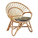 IRA Garden Cane Cusioned Chair with Cushion