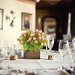 XYXCMOR-4pcs-Artificial-Flowers-Plants-Fake-Eucalyptus-Bushes-Plastic-Lotus-Flowers-Bouquets-Fake-Shrubs-Wedding-Indoor-Outdoor-Home-Garden-Windowsill-Patio-Decoration