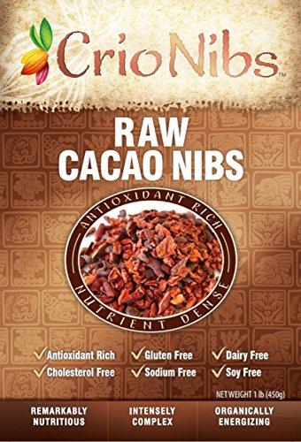 Crio Raw Organic Cacao Nibs - Gluten Free Vegan Whole-30, 1 lb bag