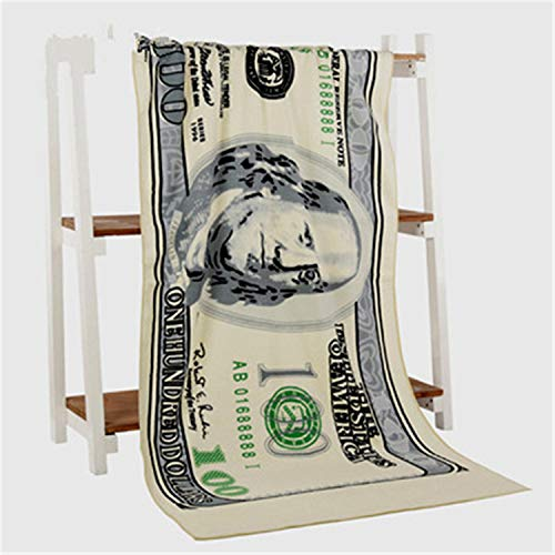 Daniel Galsworthy Microfiber Beach Towel Quick Dry Super Absorbent Sports Travel Towels 70x140cm 100 200 500 Euro 100 Dollar Printed Bath Towels