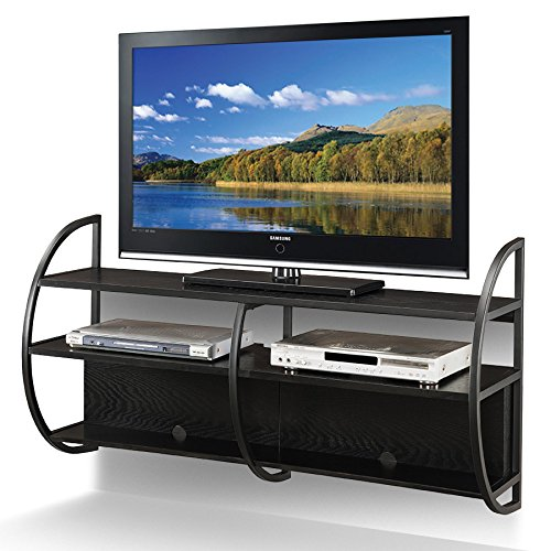 Leick Home Floating Wall Mounted TV Stand, Slate Finish