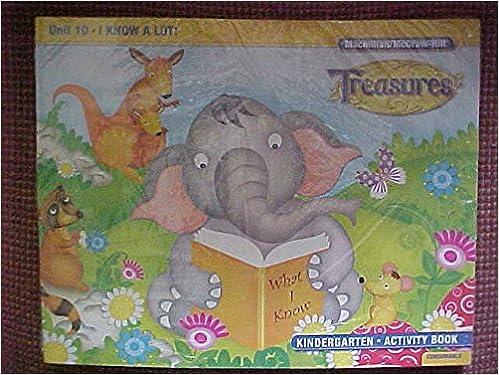 Treasures Kindergarten Activity Book Set K 11 Titles