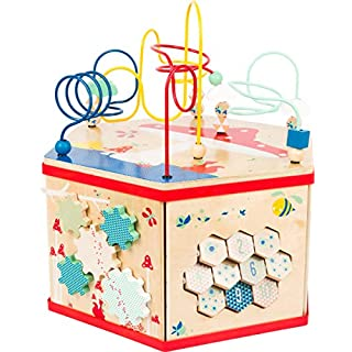 small foot wooden toys XL Activity Center 7-in-1 Iconic Motor Skills Move it! playset Designed for Children 12+ Months