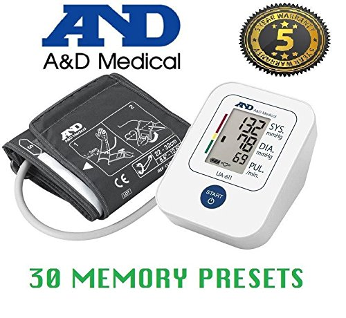 A&D Upper Arm Fully Automatic Blood Pressure Monitor, Clinically Validated, Irregular Heart Beat Detection (White) (B0749NBY57) Amazon Price History, Amazon Price Tracker