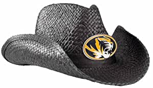NCAA Missouri Tigers Cowboy Hat, Black
