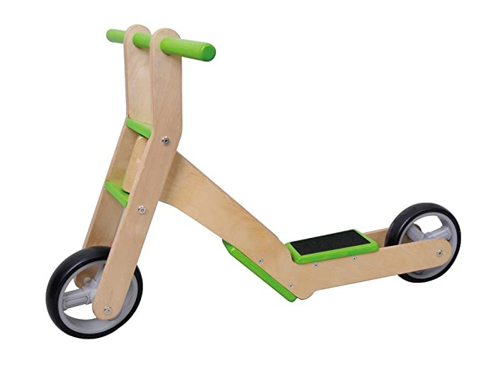 Amazon.com: MaMaMeMo 2-in-1 Wooden Scooter/ Balance Bike ...