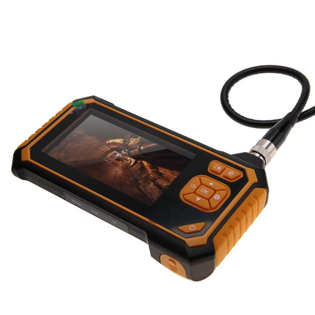 Endoscopio 5m Full HD Pixel 1080P 4,3 Pollici Schermo LCD a Colori Telecamere di ispezione con TF Card 8GB USB Ricaricabile 6 Luci LED Impermeabile IP67 Sottile 8mm Diametro Fotocamera per Ispezione