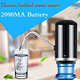 Andrew USB charging Portable electric water bottle pump dispenser (Fits Most 2-5 Gallon Water bottle[2000MA battery powered]) (black)