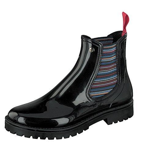 Gosch Shoes Donna Chelsea Scarpe Stivali 7105-200-9 in Nero
