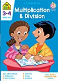 School Zone - Multiplication and Division 3-4 Deluxe Edition Workbook, Ages 8 to 10, Estimating Products, Quotients, Remainders, and More