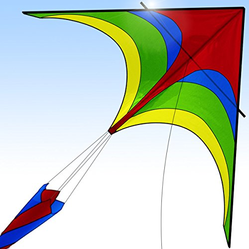 [New 2018 Version] Easy Flyer Kite for Kids and Adults, Boys & Girls - Kite Flying Outdoor Beach Fun - Get Today 100% Warranty - Kites Create Priceless Memories for - Tube Girl Model
