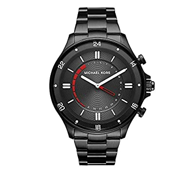 Michael Kors Access Men's Reid Black IP Hybrid Smartwatch from Michael Kors