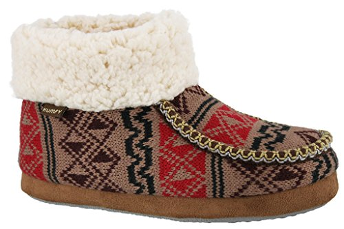 Dames Fleece Sherpa Bootie Pantoffel Bruin