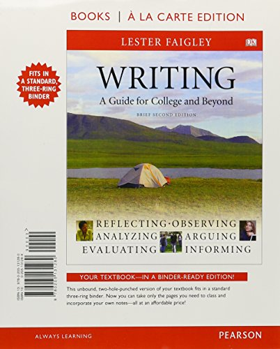 Writing, A Guide for College and Beyond, Brief Edition, Books a la Carte Plus MyCompLab (2nd Edition)