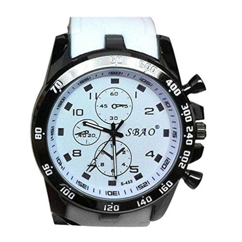 SMTSMT Stainless Steel Sport Modern Men Fashion Wrist Watch - White