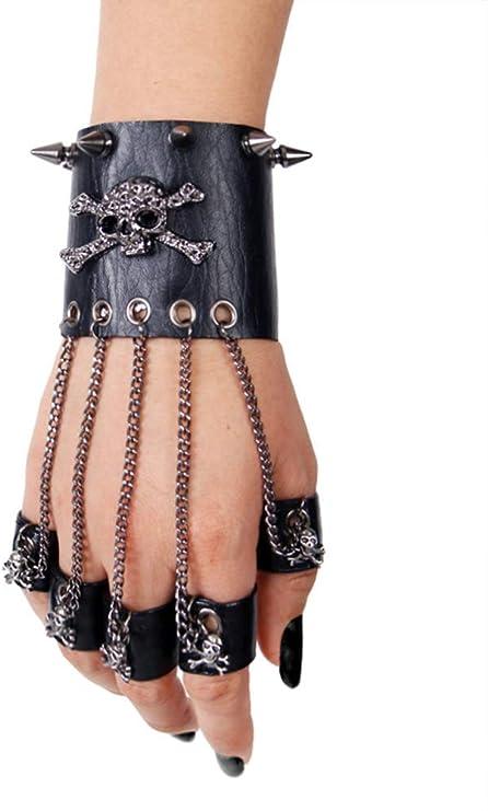 Gothic Netzhandschuhe Hellseher schwarz Restyle