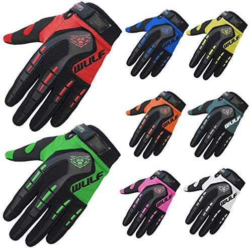 Wulfsport Kids Children Attack Motocross Gloves Junior Offroad Trials Mountain Bike Pink 3XS