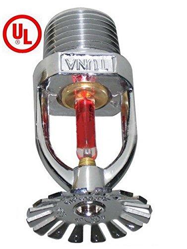 ((2 Pack) UL Listed 1/2 NPT Fire Sprinkler Head 155°F (68°C) K=5.6 Pendent Spray K80 Standard Response for Automatic Fire sprinkler System Pendent Chrome)