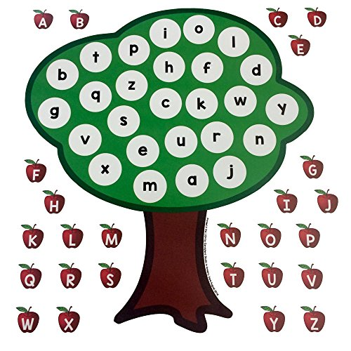 Alphabet Apple Tree - Uppercase Lowercase Letters Early Literacy Matching Activity (Upper Tree)