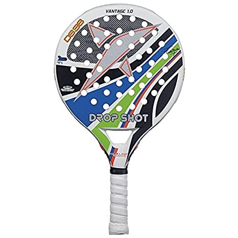 DROP SHOT Vantage 1.0 - Pala de pádel, Color Blanco/Negro/Azul ...