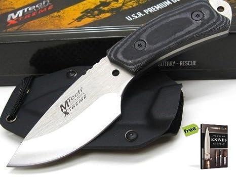 Amazon.com: MTECH XTREME - Cuchillo recto de Micarta para ...