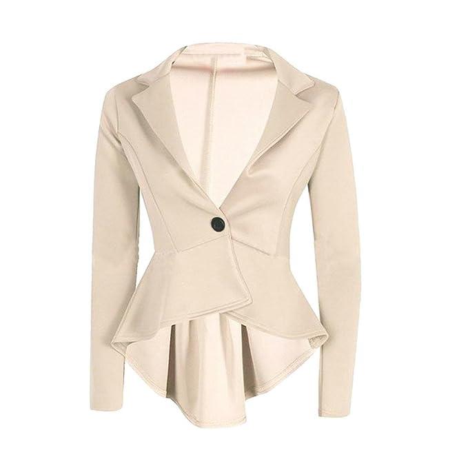 Amazon.com: photno corto chamarra de traje para mujer Frill ...
