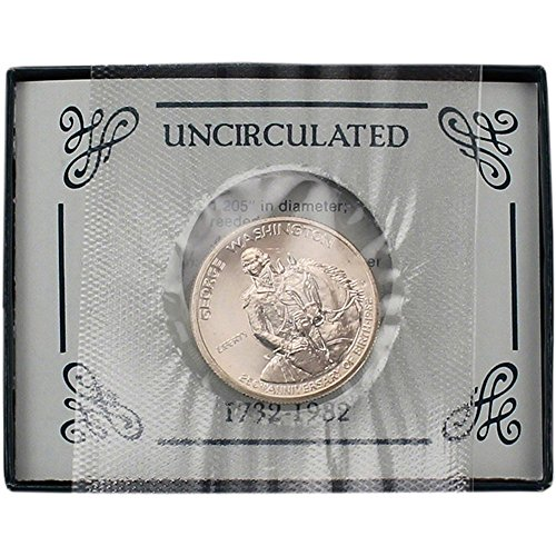 (1982 S US Commemorative Uncirculated Silver Half Dollar George Washington 50C OGP US Mint (1/2) Proof DCAM US Mint)