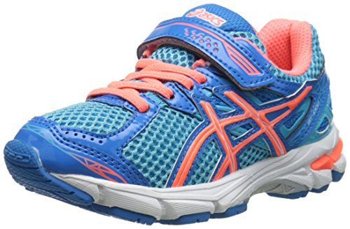 UPC 887749555233, ASICS GT 1000 3 PS Running Shoe (Infant/Toddler/Little Kid),Turquoise/Hot Coral/Blue,2.5 M US Infant