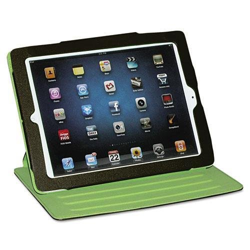 BUXTON OC218I18BR Faux Leather Swivel iPad2 Case, Brown, Green Felt Interior
