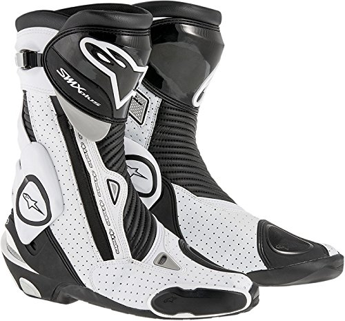 Alpinestars Mens SMX Plus Vented Boot (Black/White, EU 43)
