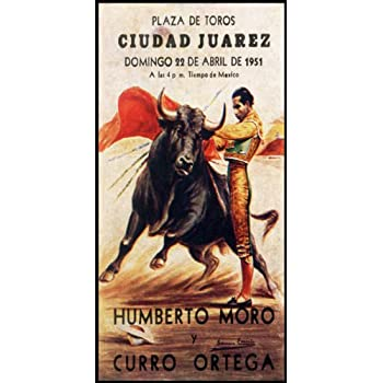 "Plaza De Toros De Ciudad Juarez #13 Canvas Art Poster 12/""x 24/"" Bullfighting"