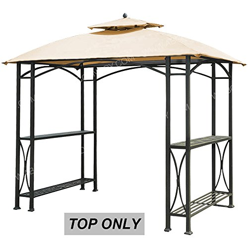 ABCCANOPY Canopy Roof Top Replacement L-GG040PST-A Small Grill Gazebo Canopy (Beige)