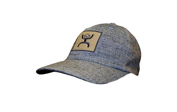 bbe39fafb HOOey Hat - 'Low Tide' Patch Flex Fit Cap - Blue at Amazon Men's ...