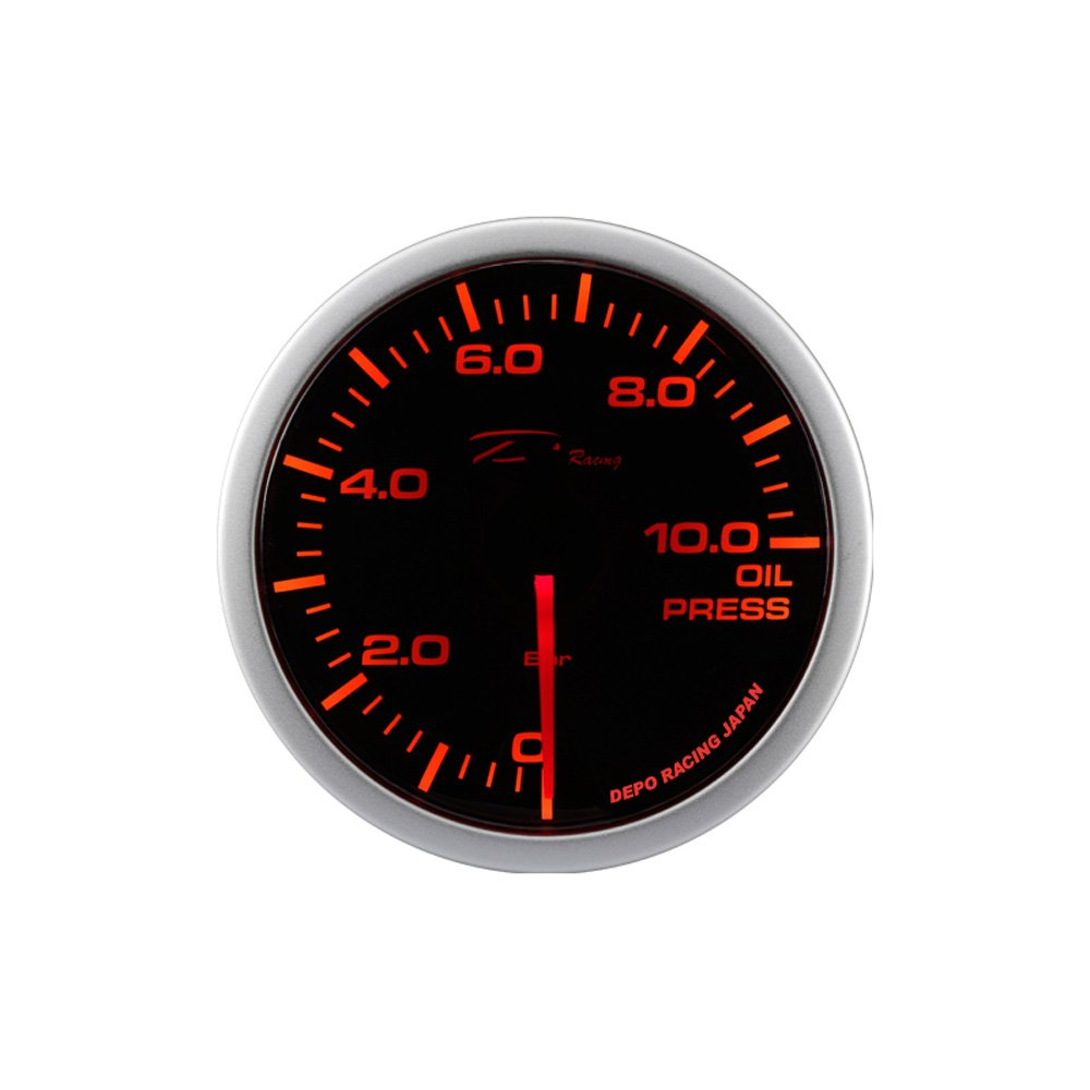 Smoke 52 mm Depo Racing WA5227B-BAR WA-Series Instrument//Gauge