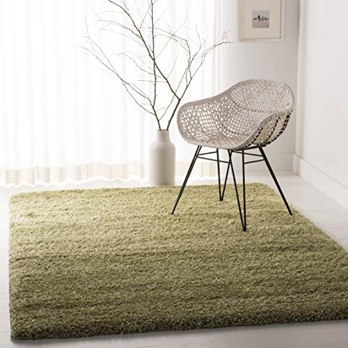Safavieh California Premium Shag Collection SG151-5252 Green Area Rug (5