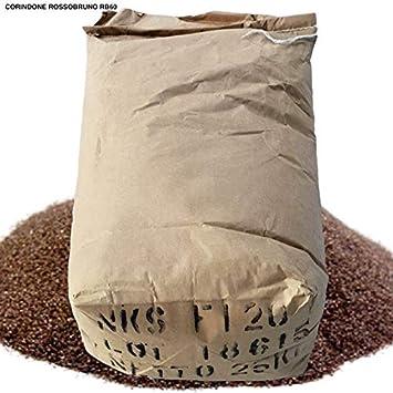LordsWorld - Corindón rojo-marrón de 25 kilogramos 60 malla para ...
