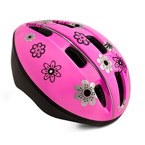 High Bounce Kids Helmet for Cycling Scooter Bicycle Skateboard, All Outdoor Sports Gear, Lightweight (Pink, Large)