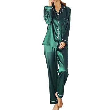 Ladies Womens Pyjamas pj Set Long Sleeve Top Nightwear LoungeWear pajamas pyjama